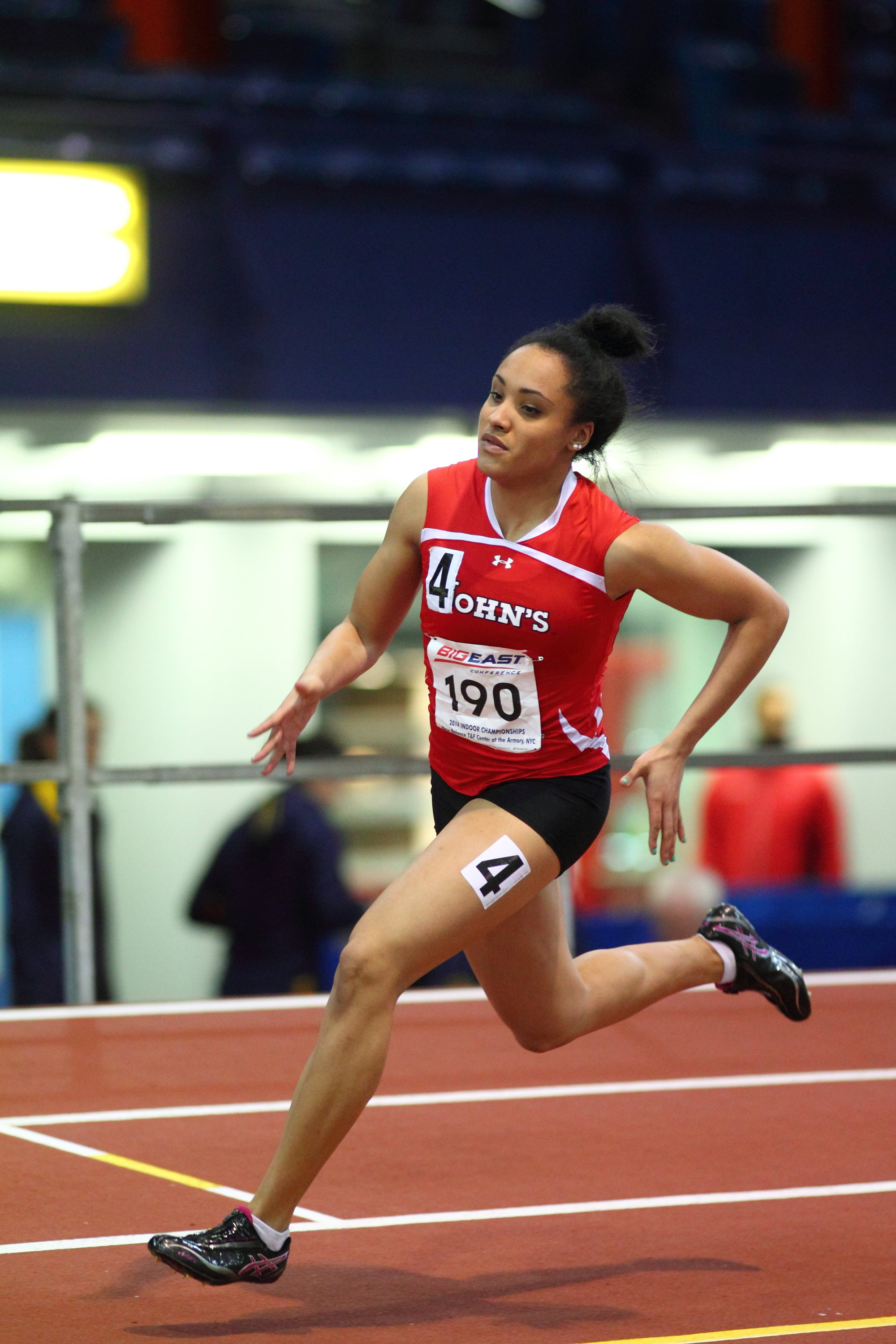 Junior Pariis Garcia was one of seven individual event winners for St. John's at Monday's. Women's Track and Field ...